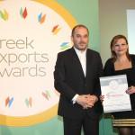Silver βραβείο στην κατηγορία TOP GREEK EXPORT COMPANY παραλαμβάνει η Χαϊδά Ιουλία, Αντιπρόεδρος Δ.Σ. της εταιρείας Ικτίνος Ελλάς Α.Ε. από τον κ. Ηλία Ξανθάκο, Γενικό Γραμματέα του Υπουργείο Οικονομίας, Ανάπτυξης και Τουρισμού
