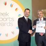 Silver βραβείο στην κατηγορία Top Industrial Company παραλαμβάνει ο κ. Λάμπρος Γιαννούχος, Διευθυντής Διεθνών Δραστηριοτήτων εκ μέρους της εταιρείας Europa Profil Aluminium SA από τον κ. Γεώργιο Τοσούνη, Σύμβουλο ΟΕΥ Α' & Διευθυντή Β8 Δ/νσης Επιχειρηματικής Ανάπτυξης, Υπουργείο Εξωτερικών.