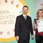 Gold βραβείο στην κατηγορία Top Industrial Company παραλαμβάνει η κα. Αναστασία Χαϊδά, Διευθύντρια Λιανικής της εταιρείας ΙΚΤΙΝΟΣ ΕΛΛΑΣ Α.Ε. από τον κ. Γεώργιο Τοσούνη, Σύμβουλο ΟΕΥ Α'  & Διευθυντή Β8 Δ/νσης Επιχειρηματικής Ανάπτυξης, Υπουργείο Εξωτερικών