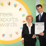 Silver βραβείο στην κατηγορία Top Manufacturing Company παραλαμβάνει κ. Κωνσταντίνος Κωνσταντινίδης, Διευθύνων Σύμβουλος της εταιρείας PELOPAC ABEE από την κα. Χριστίνα Σακελλαρίδη, Πρόεδρο στον Πανελλήνιο Σύνδεσμο Εξαγωγέω