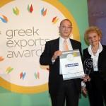 Gold βραβείο στην κατηγορία Top Manufacturing Company παραλαμβάνει ο κ. Μιλτιάδης Μιχαλούτσος, Διευθυντής Διοικητικής Υποστήριξης της εταιρείας RAYMETRICS AE από την κα. Χριστίνα Σακελλαρίδη, Πρόεδρο στον Πανελλήνιο Σύνδεσμο Εξαγωγέων