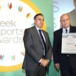 Bronze βραβείο στην κατηγορία Top Services Company παραλαμβάνει ο κ. Χάρης Ζαχαριάδης, General Manager της SoftOne Romania της εταιρείας SOFTONE TECHNOLOGIES Α.Ε από το Νίκο Πορφύρη, Αναπληρωτή Επιτελικό Διευθυντή Ομίλου Χρηματιστηρίου Αθηνών