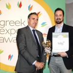 Gold βραβείο στην κατηγορία Top Services Company παραλαμβάνει ο κ. Αλέξανδρος Καραγεώργης, Chief Operation Officer της εταιρείας Think Digital Group (TDG) από το Νίκο Πορφύρη, Αναπληρωτή Επιτελικό Διευθυντή Ομίλου Χρηματιστηρίου Αθηνών
