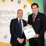 Silver βραβείο στην κατηγορία Top Export Assistance Company παραλαμβάνει ο κ. Γιάννης Σηφάκης, Διευθυντής Marketing Bancassurance κ λοιπών συνεργασιών της εταιρείας «Η ΕΘΝΙΚΗ» Α.Ε.Ε.Γ.Α. από τον κ. Τζανέτο Καραντζή, Πρόεδρο της Ενωσης Διπλωματικών Υπαλλήλων Οικονομικών και Εμπορικών Υποθέσεων