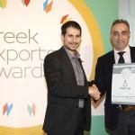 Silver βραβείο στην κατηγορία Top Export Packaging παραλαμβάνει η Μαρία Κουνελάκη, Marketing Manager της εταιρείας DERMACON, γνωστή για την ελληνική σειρά δερμοκαλλυντικών YOUTH LAB από το Μενέλαο Σαμαρά, Γενικό Γραμματέα του ΣΕΒΕ