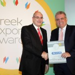 Gold βραβείο στην κατηγορία Top Branded Export Product παραλαμβάνει ο κ. Πέτρος Παπαδάκης Πρόεδρος και Διευθύνων Σύμβουλος της εταιρείας ΜΕΒΓΑΛ Α.Ε από το Γιώργο Φλέσσα, Πρόεδρο και Δ/νων Σύμβουλο της CIVITAS