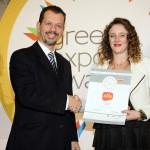 Bronze βραβείο στην κατηγορία Top Industrial Company παραλαμβάνει η κα. Κατερίνα Κουκουτάρη, Διευθύντρια Marketing της εταιρείας Άλφα – Αθανάσιος Κουκουτάρης από τον κ. Γεώργιο Τοσούνη, Σύμβουλο ΟΕΥ Α' & Διευθυντή Β8 Δ/νσης Επιχειρηματικής Ανάπτυξης, Υπουργείο Εξωτερικών