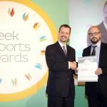 Silver βραβείο στην κατηγορία Top Industrial Company παραλαμβάνει ο κ. Μάνος Ιατρέλης, CSR & Internal Communication Manager της εταιρείας ΑΘΗΝΑΙΚΗ ΖΥΘΟΠΟΙΙΑ από τον κ. Γεώργιο Τοσούνη, Σύμβουλο ΟΕΥ Α' & Διευθυντή Β8 Δ/νσης Επιχειρηματικής Ανάπτυξης, Υπουργείο Εξωτερικών
